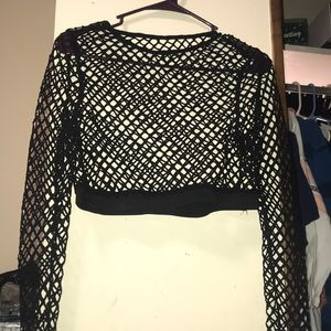 Black fishnet top